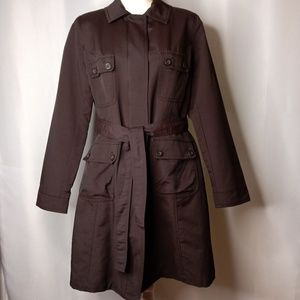 MERONA Ladies Brown Trenchcoat Sz L